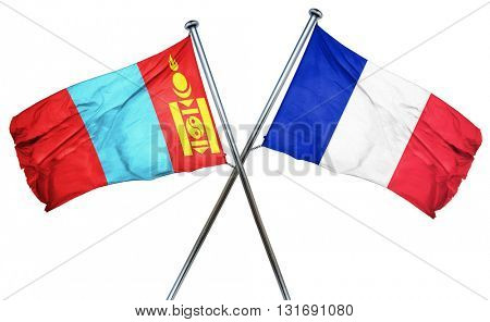 Mongolia flag  combined with france flag