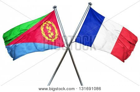 Eritrea flag  combined with france flag