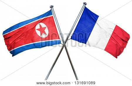 North Korea flag  combined with france flag