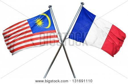Malaysia flag  combined with france flag