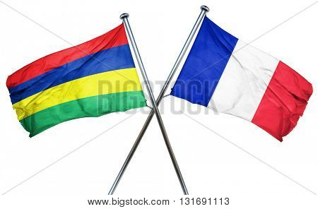Mauritius flag  combined with france flag