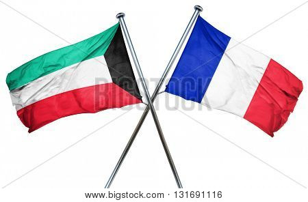 Kuwait flag  combined with france flag