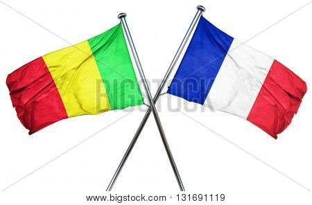 Mali flag  combined with france flag