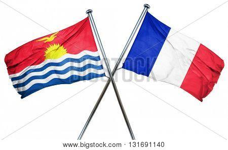 Kiribati flag  combined with france flag