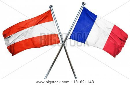 Austria flag  combined with france flag