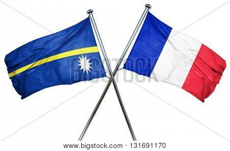 Nauru flag  combined with france flag