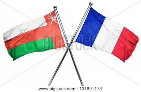 Oman flag  combined with france flag