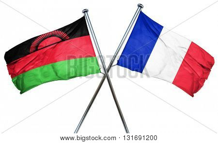 Malawi flag  combined with france flag