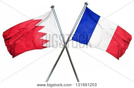 Bahrain flag  combined with france flag