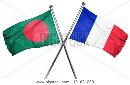 Bangladesh flag  combined with france flag