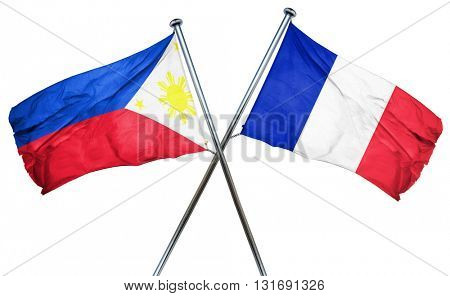 Philippines flag  combined with france flag