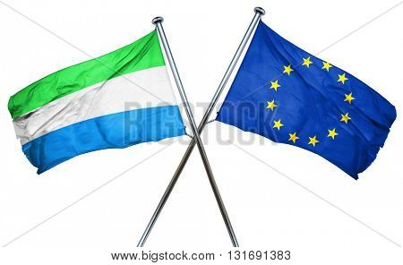 Sierra Leone flag  combined with european union flag