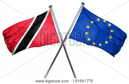 Trinidad and tobago flag  combined with european union flag
