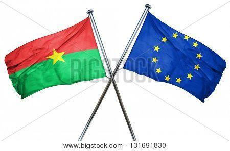 Burkina Faso flag  combined with european union flag