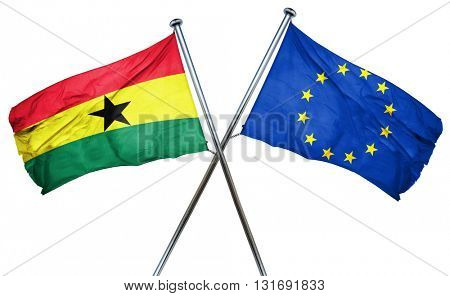 Ghana flag  combined with european union flag