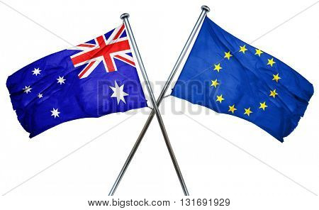 Australia flag  combined with european union flag