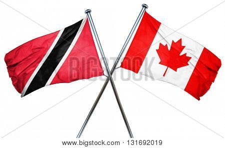 Trinidad and tobago flag  combined with canada flag