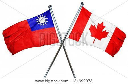 Republic of china flag  combined with canada flag