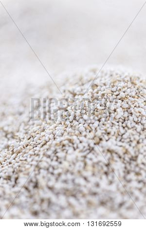 Amaranth (puffed; Selective Focus; Close-up Shot)