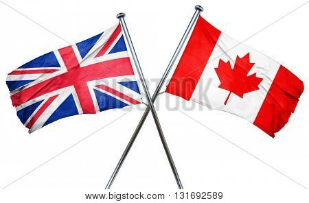 Great britain flag  combined with canada flag
