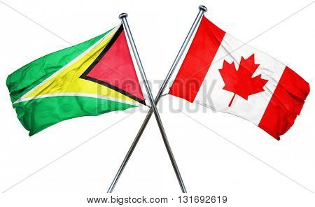 Guyana flag  combined with canada flag