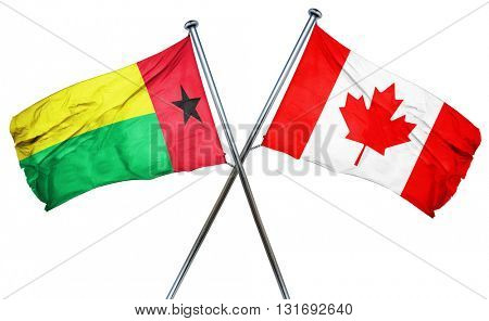 Guinea bissau flag  combined with canada flag