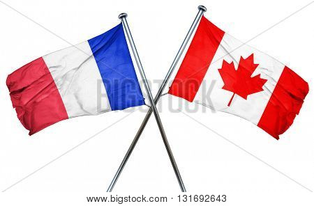 France flag  combined with canada flag