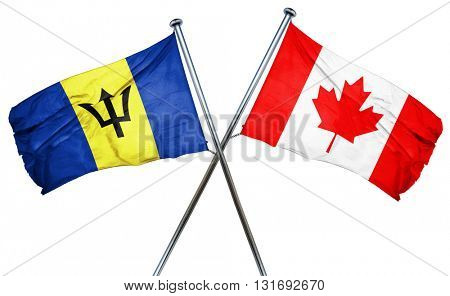 Barbados flag  combined with canada flag