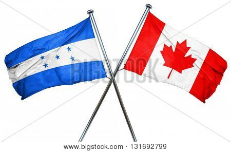 Honduras flag  combined with canada flag