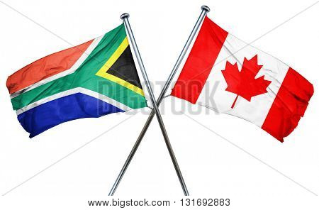 South africa flag  combined with canada flag