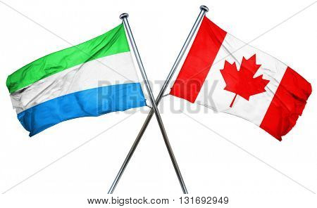 Sierra Leone flag  combined with canada flag