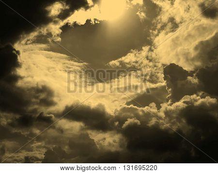 Heaven Picture Sepia