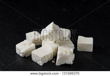 Feta Cheese On A Slate Slab