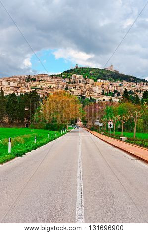 Strait Road to the Italian City of Assisi