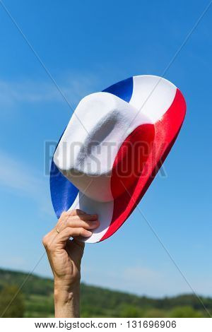French hat in color of flag