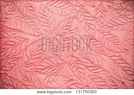 handmade mulberry paper background with leaves. The mulberry paper texture background. pattern background