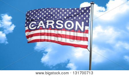 carson, 3D rendering, city flag with stars and stripes