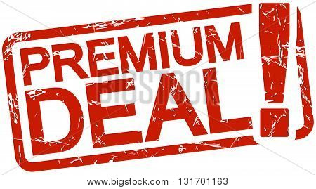 Red Stamp With Text Premium Deal