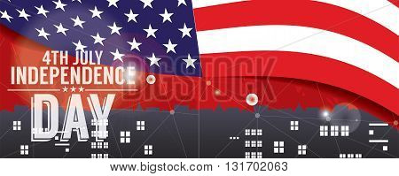 Independence Day 1500x600 Pixel Banner Vector Illustration. EPS 10
