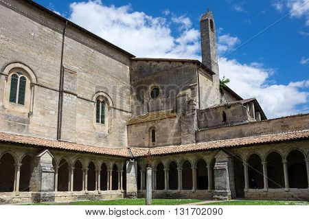 The Collegiate Church and Cloister in the centre of Saint-Emilion France