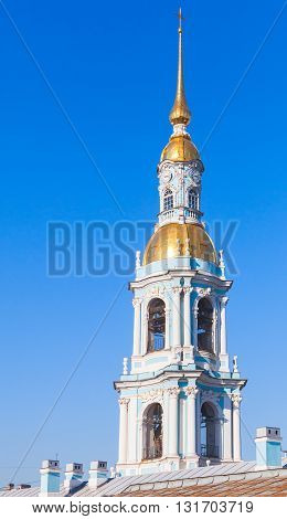 Bell Tower Of Orthodox St. Nicholas Naval Cathedral