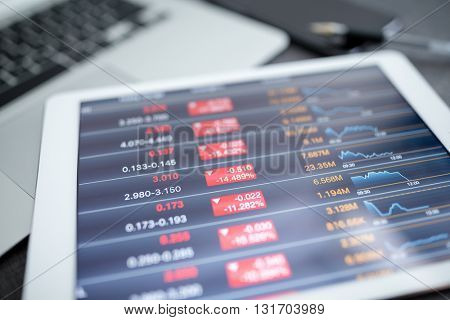 Tablet computer and financial data