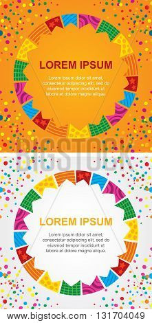 Colorful background for holiday card with an area to place text