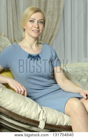 Portrait of a beautiful woman at home
