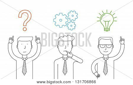 Business thinking. Businessman thinking about reaching success.