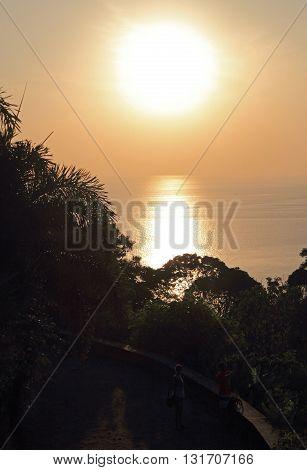 The Sunset On Shore Of Phuket Island