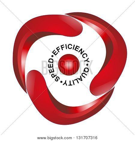 Quality speed efficiency - business logo idea for retail / marketing companies