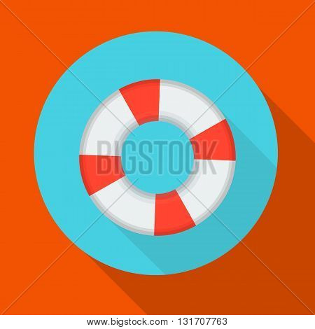 vector illustration of an inflatable life preserver