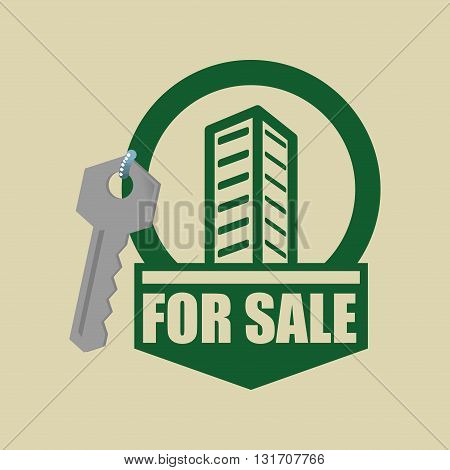 Real Estate concept with icon design, vector illustration 10 eps graphic.