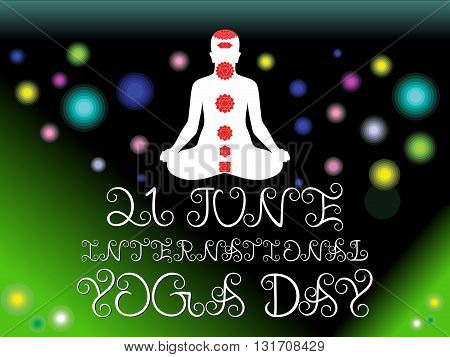abstract green yoga day background vector illustration